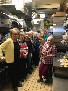 Volunteers at Cornerstone Housing Lunch, April 2018